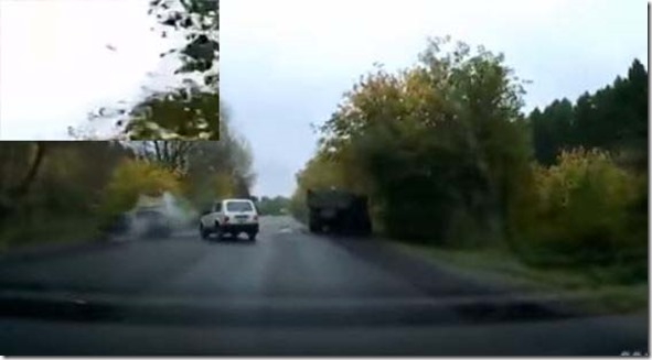 UFO caused the car accident in Izhevsk