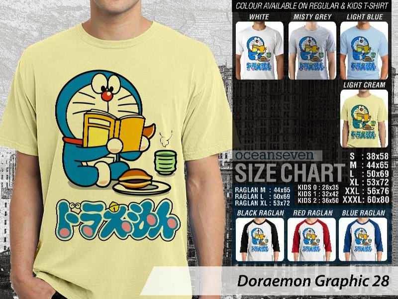 KAOS Doraemon 68 Manga Lucu distro ocean seven