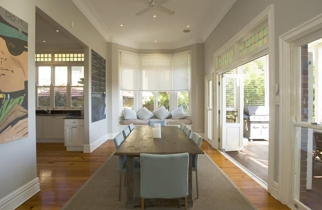 Window seat in bay window at 16 Bradleys Head Road Mosman