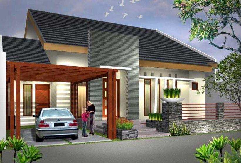 desain rumah 1 lantai menawan yang cantik