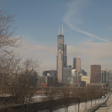 The Chicago skyline seen from the Amtrak window 01142012d