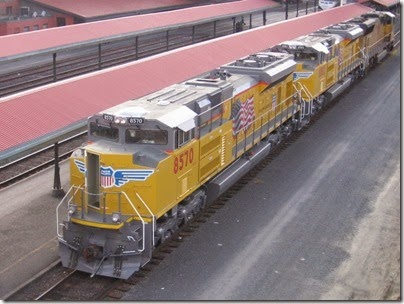 IMG_6680 Union Pacific SD70ACe #8570 at Union Station in Portland, Oregon on May 27, 2007