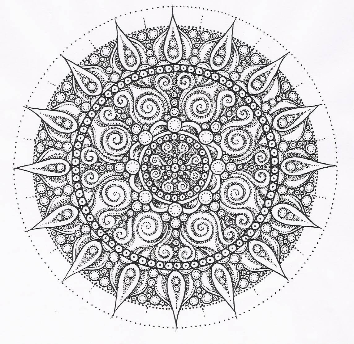 mandala coloring pages free printable - Free Printable Mandala Coloring Pages