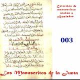 003 - Códice de miscelánea. Azoras coránicas, narraciones profana y cuestiones de jurispredencia.