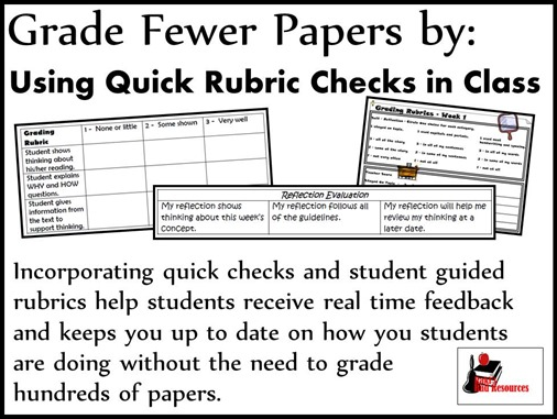 Grade Fewer Papers by using quick rubric checks
