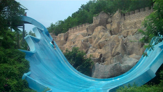 Tsunami slide - scarier than it looks!