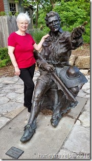 Daniel Boone sculpture in St. Charles, Missouri, by Harry Weber.