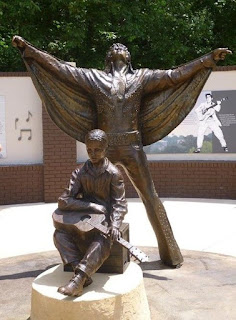 New Elvis Presley statue in Tupelo at The Birthplace.