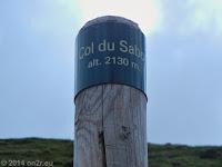 Die Straße hoch zum Col du Sabot (2100 m) endet in einem kleinen Parkplatz. Von hier gehen Wanderwege ab.