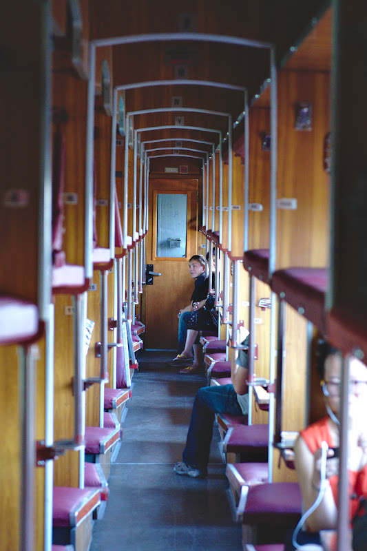 Vagoanele rusesti in drum spre Balichki.