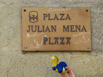Een bordje met de naam Julian