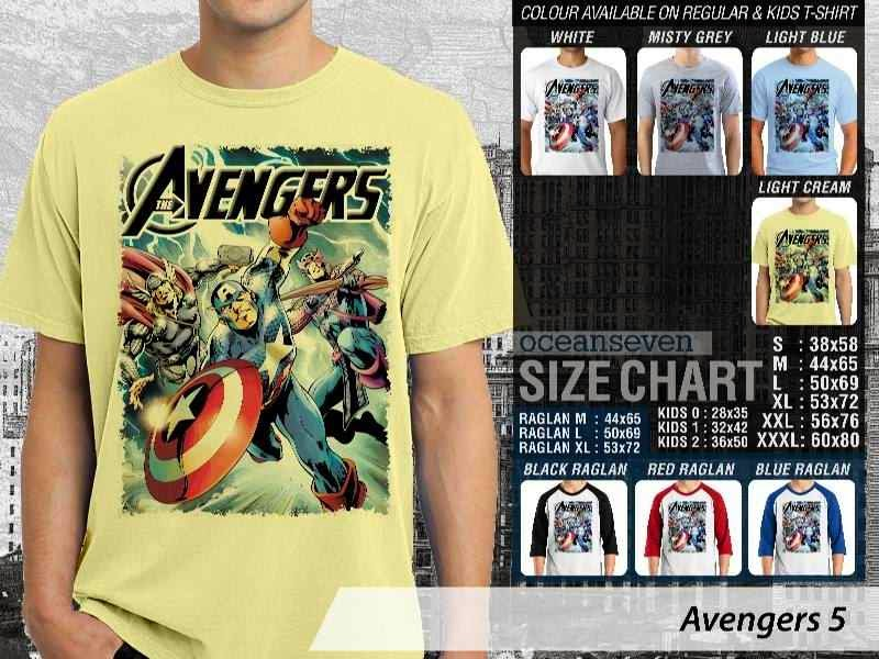 Jual Kaos Captain America hulk iron man thor 5 Avengers