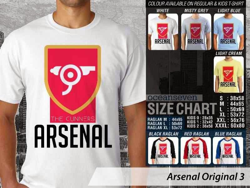Kaos Bola Arsenal 4 Logo Klub Liga Inggris