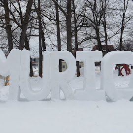 MURICA Snow Sculpture by Jason Asselin - Buildings & Architecture Statues & Monuments ( michigan, sculpture, winter, america, ice, snow, murica )
