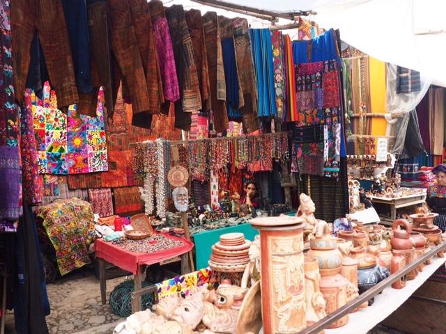 Market stall at Chichicastenango, Guatemala