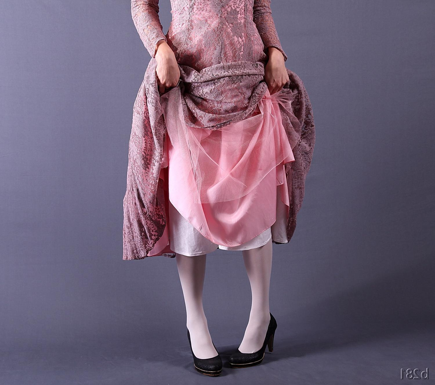 Vintage 50s Dress   Dusty pink