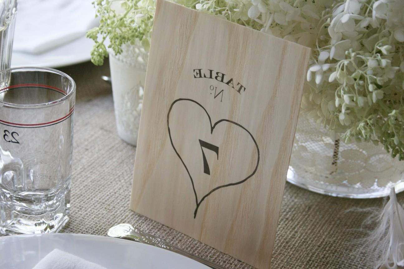 Wood Table Numbers 1-10