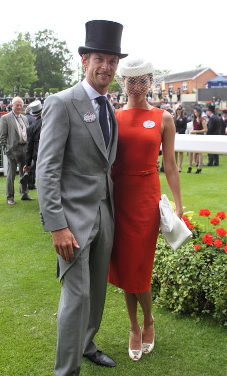 Дженсон Баттон и Джессика Мичибата на Royal Ascot 20 июня 2012