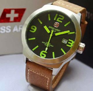 Jual jam tangan Swiss Army SA2867 date brown