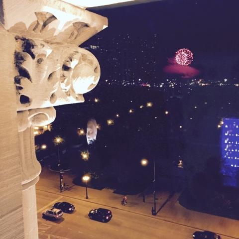 navy, pier, fireworks