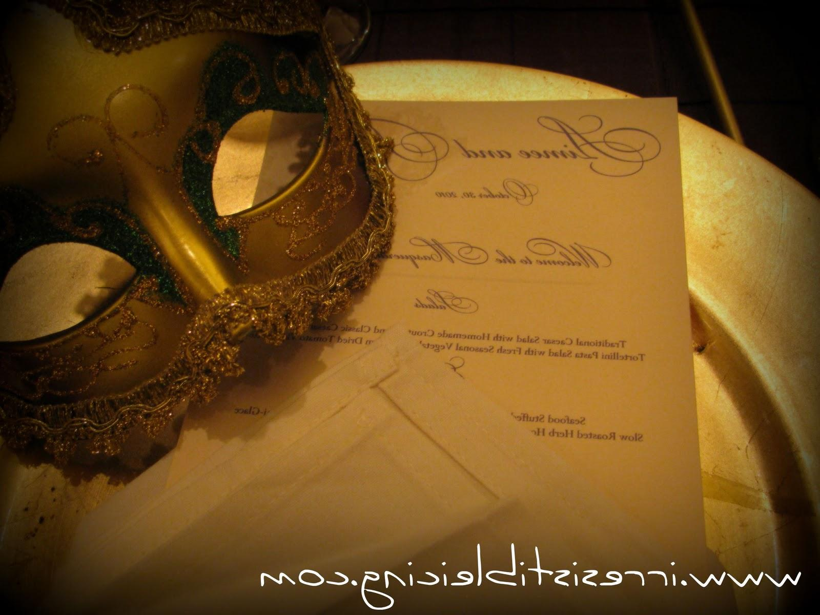 Masquerade Ball reception