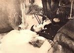 9. Тела отца и сыновей Дерновых в своем доме перед похоронами., Елабуга,февраль 1918 год