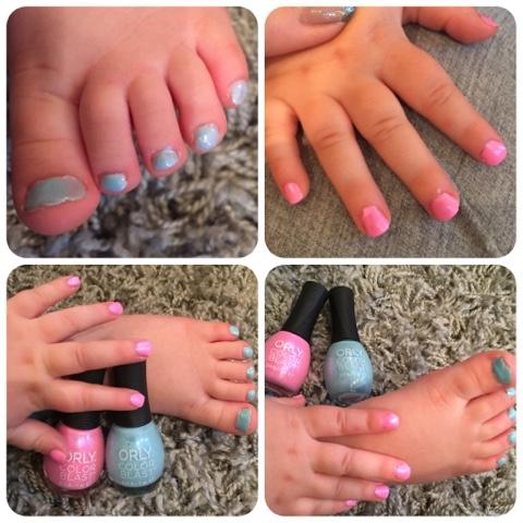 orly frozen sister duo elsa nail polish