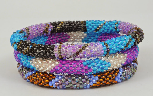 assorted purple