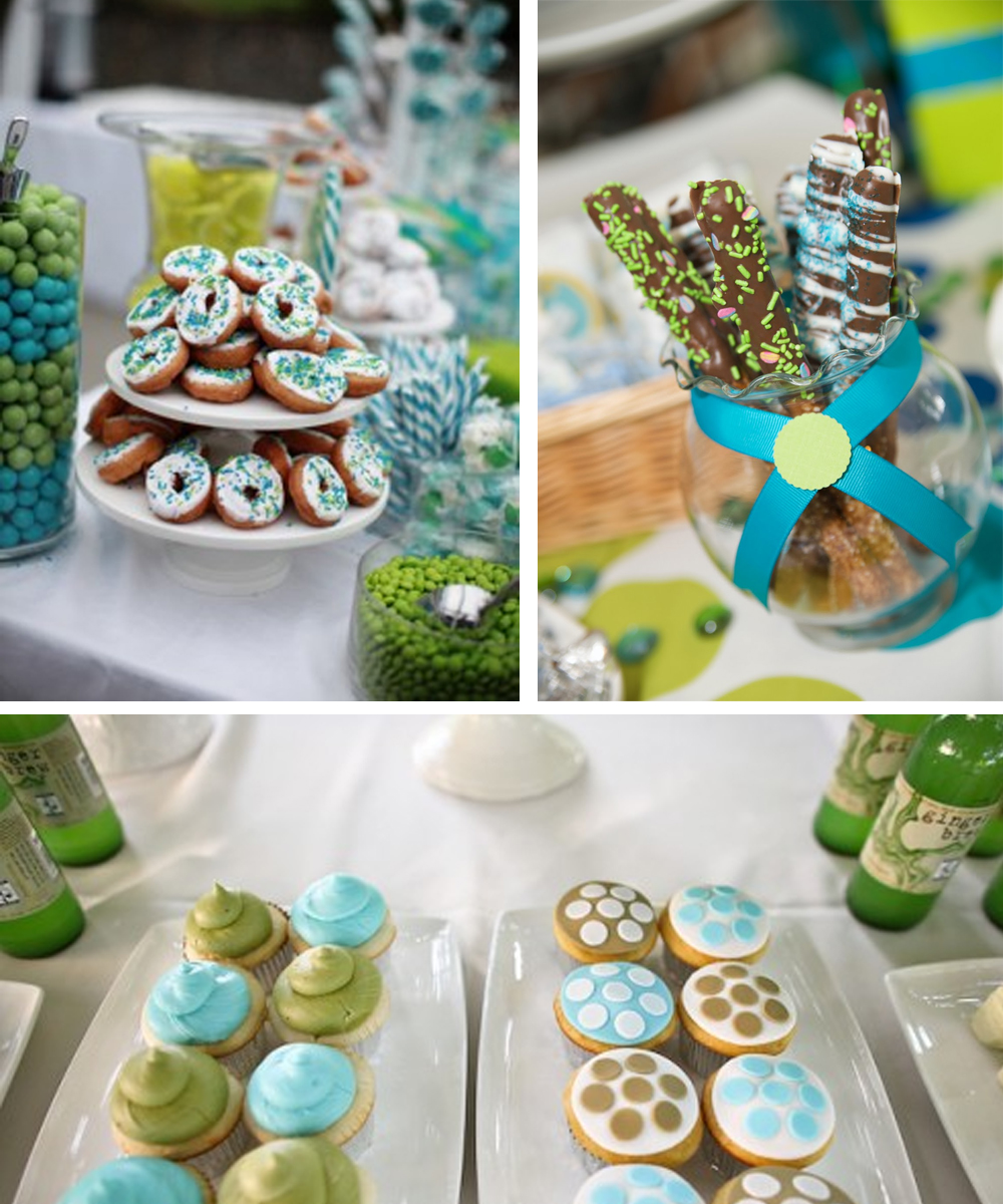 Blue and Green Country Wedding