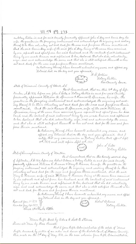 John L. Day sold to William Cox Irwin 16 September 1876_0001