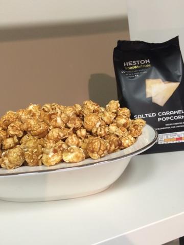 Heston's salted caramel popcorn - Little House Lovely - Festive Food