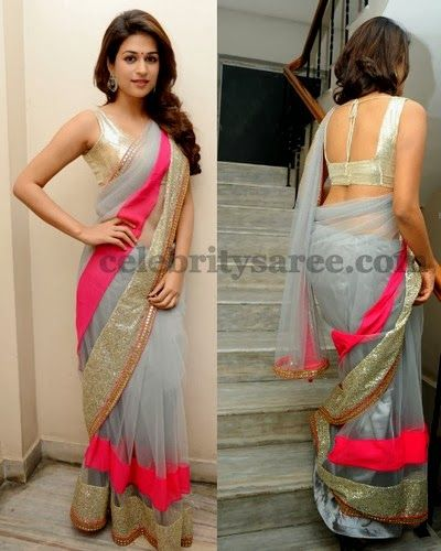 shraddha das saree back