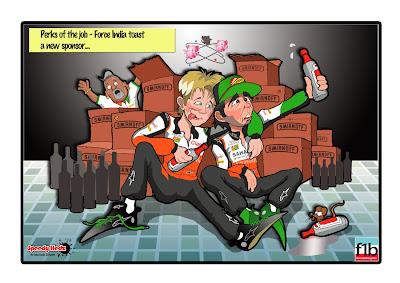Smirnoff - новый спонсор Force India - комикс SpeedyHedz