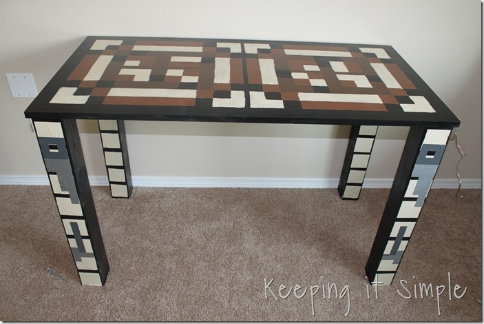 keeping it simple: boys homework station: diy minecraft crafting table