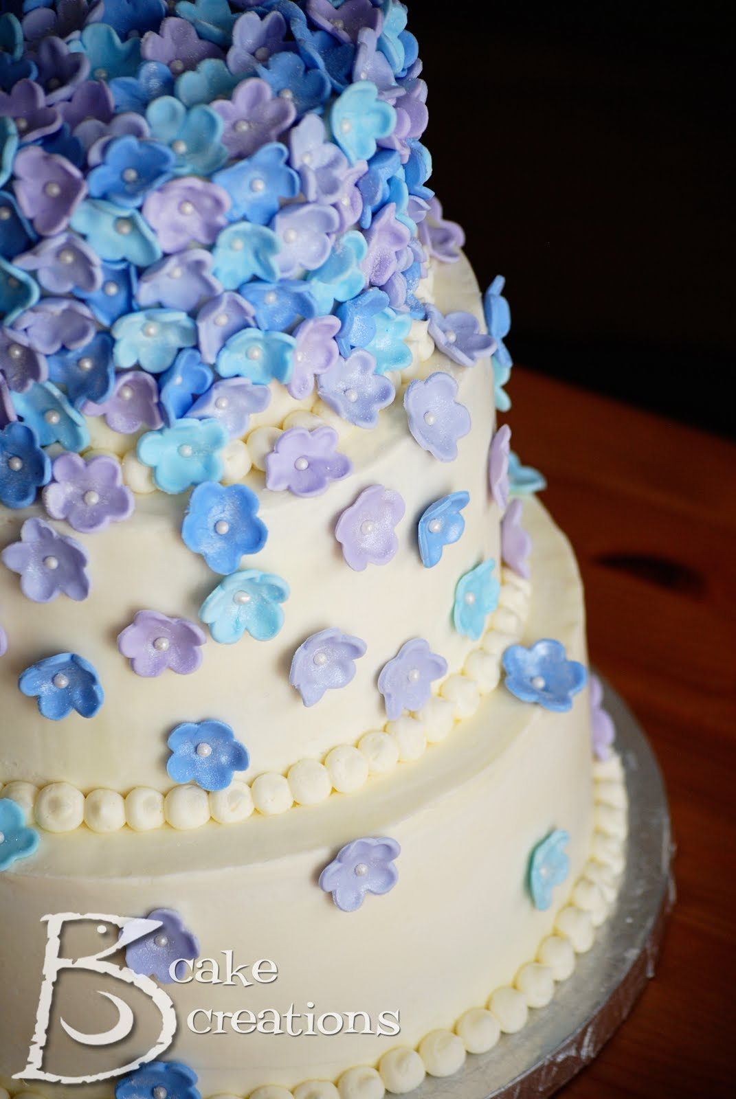 Snuggle s blog Purple and Silver Wedding Cake purple