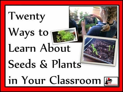 Twenty ways to learn about seeds and plants or incorporate seeds and plants into your lessons - everything from growing a garden in soil to hydroponics to exploring seed catalogs. Twenty different ideas for your classroom or homeschool environment brought to you by Raki's Rad Resources.
