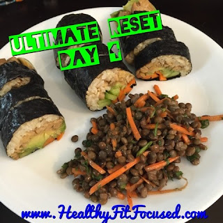 Ultimate Reset Recipe, Nori Rolls with Tempeh and Veggies, www.HealthyFitFocused.com , Julie Little