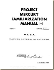 Aviation Archives: Mercury and Gemini Familiarization Manuals