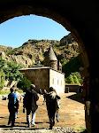 The entrance to Geghard Monastery, Armenia.