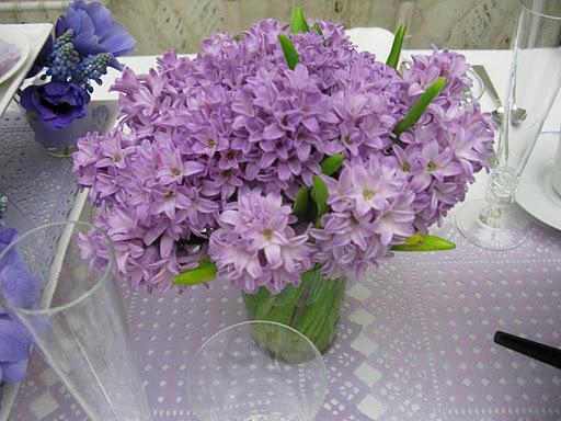 A vibrant purple bouquet from