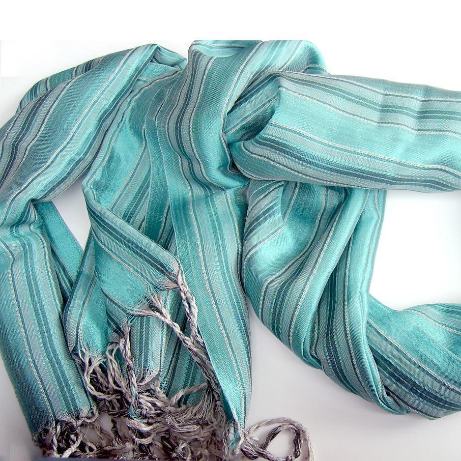 Handwoven Aqua Turquoise