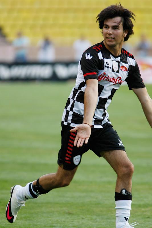 Серхио Перес на благотворительном футбольном матче в Монте-Карло 2011
