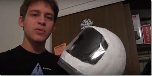 casco astronauta mache con tutorial