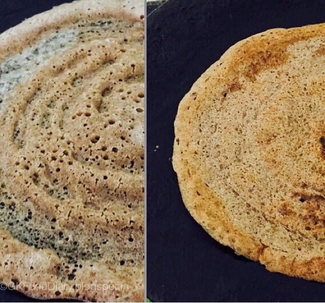 Fermented Ragi Dosa - Finger Millet Dosa with Urad dal (Keppai Dosa) 4