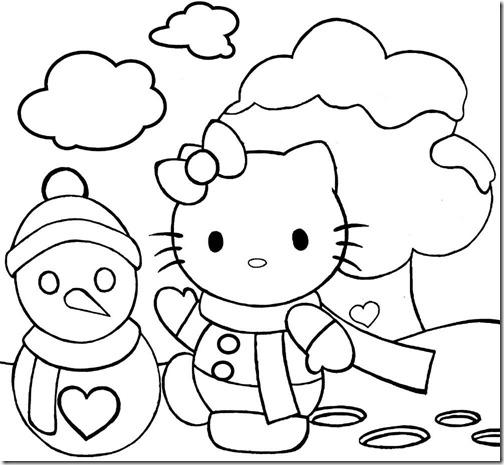 colorear hello kitty navidad (4)