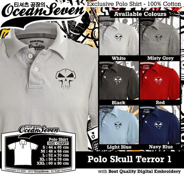 POLO Skull Terror Logo distro ocean seven