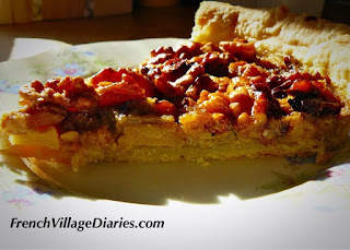 French Village Diaries walnut quince apple tart autumn recipes
