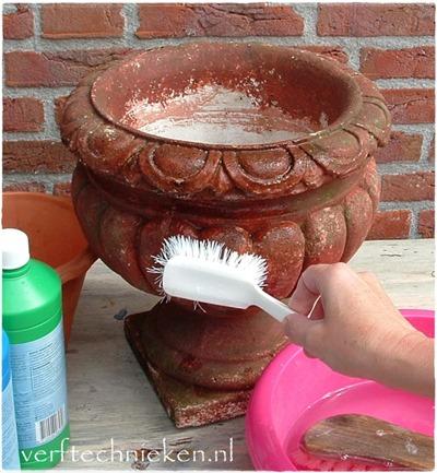 verftechnieken Betonlook schoonmaken