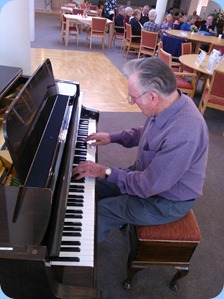 Roy Steen playing the Schimmel mini-grand piano