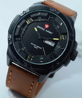 jam tangan Swiss Army SA0490MB brown leather yellow